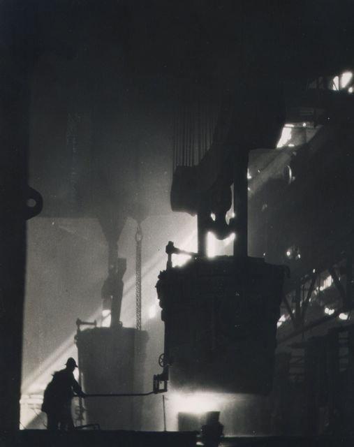 William M. Rittase: untitled (steel plant, molten steel)