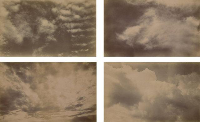 vintage scientific cloud studies - 5 photographs