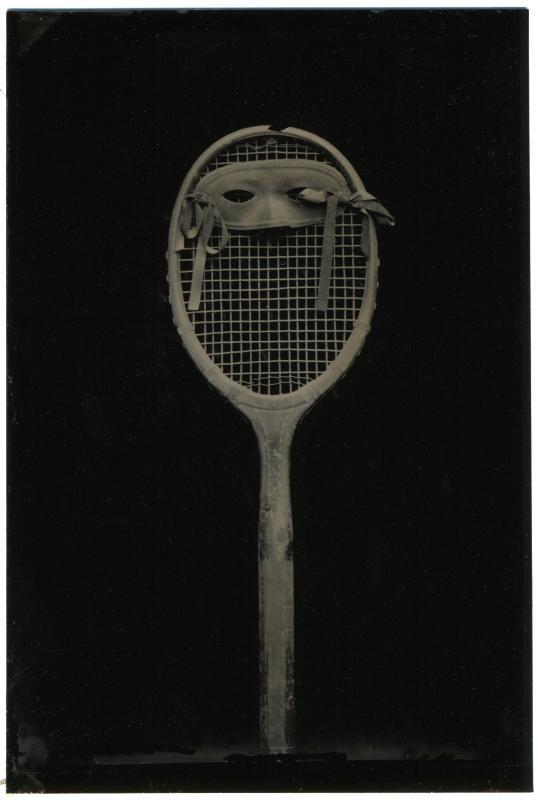 David Sokosh: Racquet Mask, Brooklyn - tintype