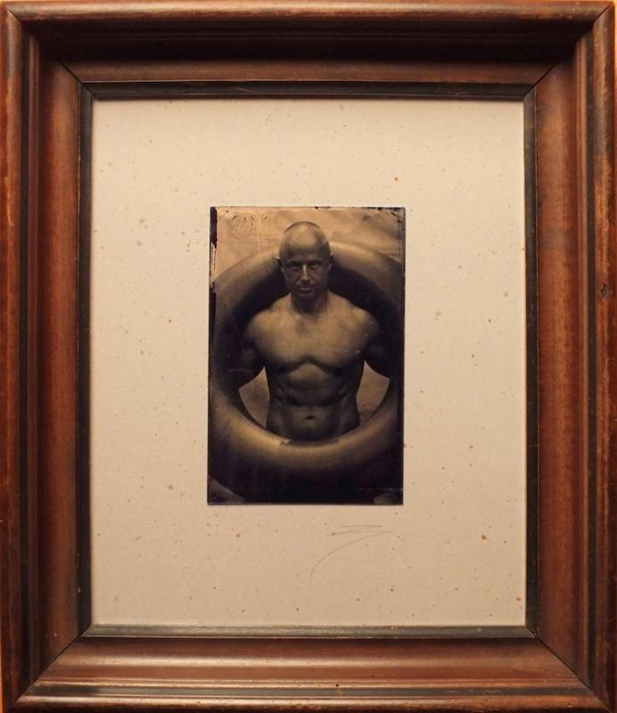 David Sokosh: Volkker with Tire, Provincetown - tintype