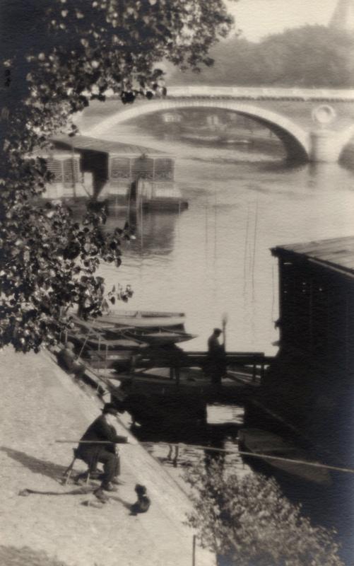 William C. Odiorne: Barges on the Seine, Paris