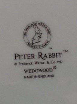 Wedgwood Peter Rabbit 1998 calander plate.