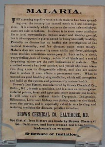 Victorian Trade Card Browns Iron Bitters 1800's.