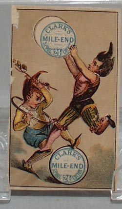 Victorian Trade Cards Clarks Thread Boy Holding Spool 1800