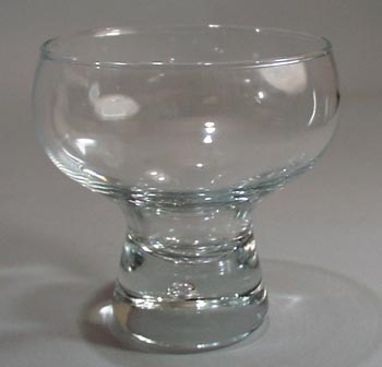 Viking Glass Crystal glass with bubble in base.
