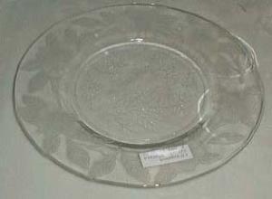 Macbeth Evans Dogwood Salad Plate in Crystal