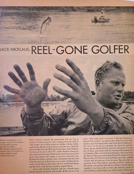 Jack Nicklaus goes fishin