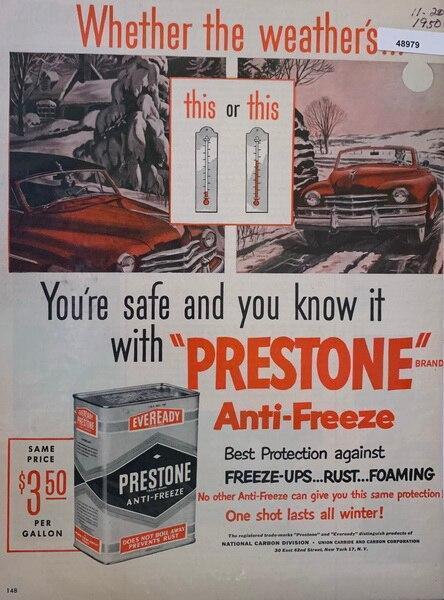 Prestone anti freeze 1Nov