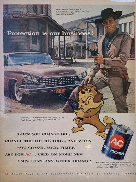 1958 ac oil filter ad wit