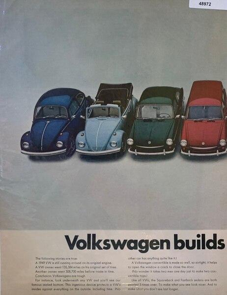 1967 2 page Volkwagon ad