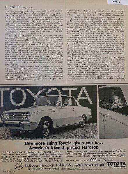 1967 Toyota Americas lowe