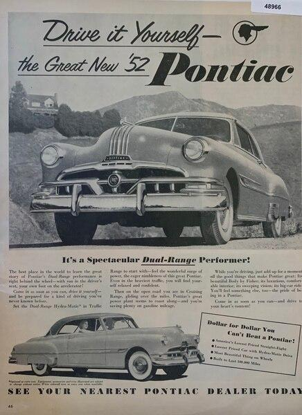 1952 Pontiac dual range p