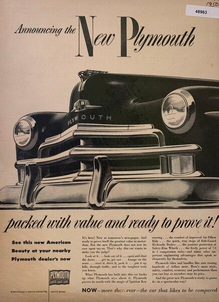 1950 new plymouth ad, pac