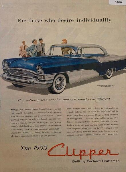 1955 Clipper Packard blue