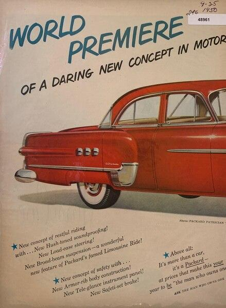 1951 Packard ad with grea