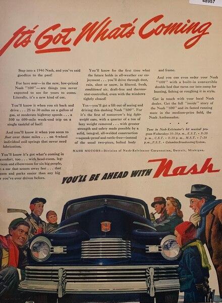 Nash dec 31, 1945 ad, you