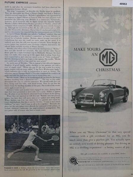 MG Christmas car, Dec 15,