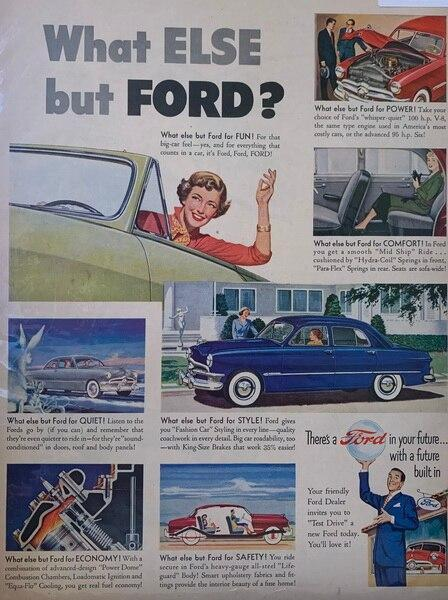 1950 Ford ad showing comf