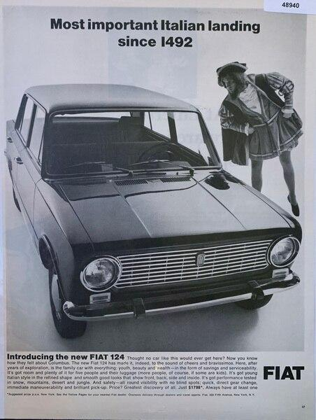 Fiat 1966 ad showing the