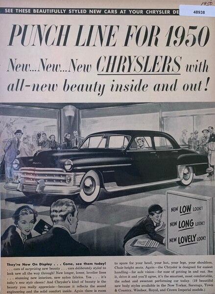 1950 Chrysler  ad, showca