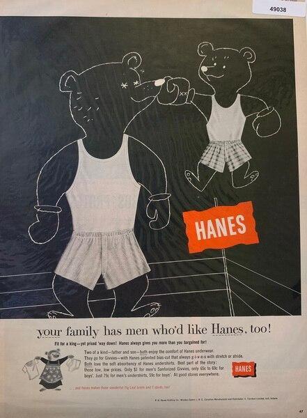 Hanes underware ad June 1