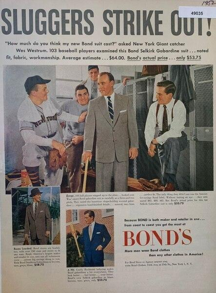 Bond suits 1952, shows Sl