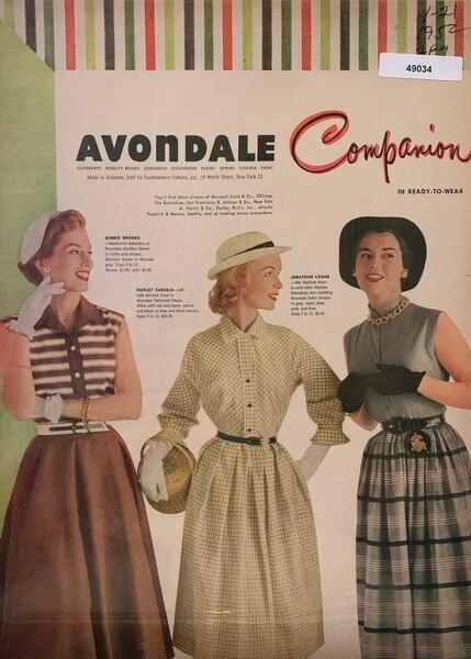 Avondale color fabric ad