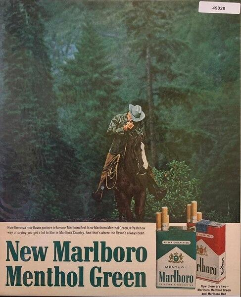 Marlboro Man ad, on horse