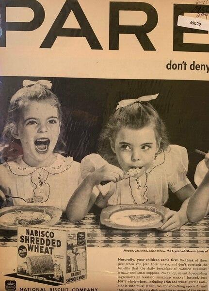 Dees triplets eat Nabisco