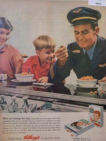 Kellogs corn flakes ad, J