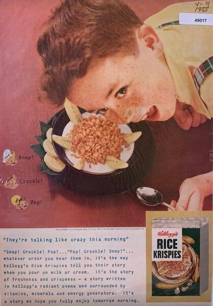 Rice Krispies ad staing t