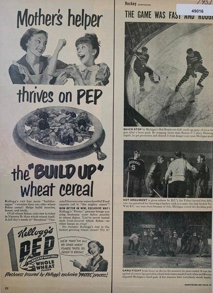 Pep cereal ad, that shows