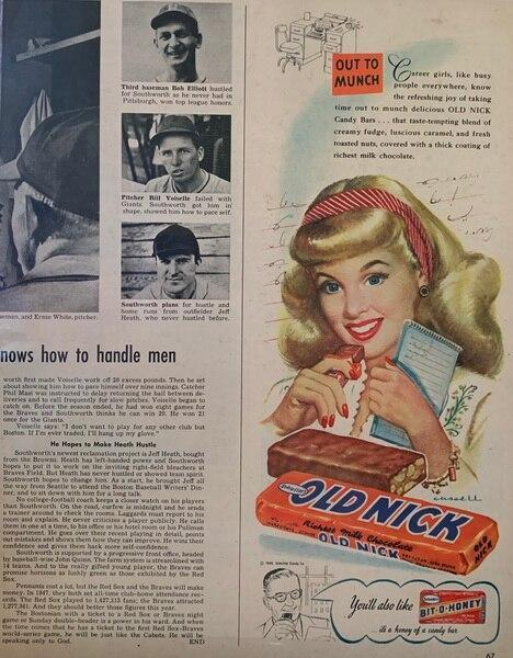 Old Nick candy bar ad 194
