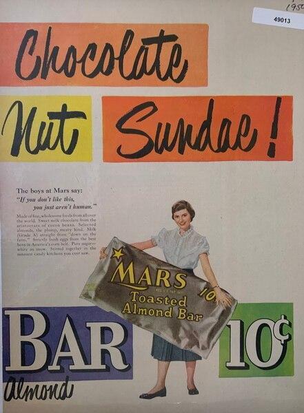 Mars bar ad 1950, feature