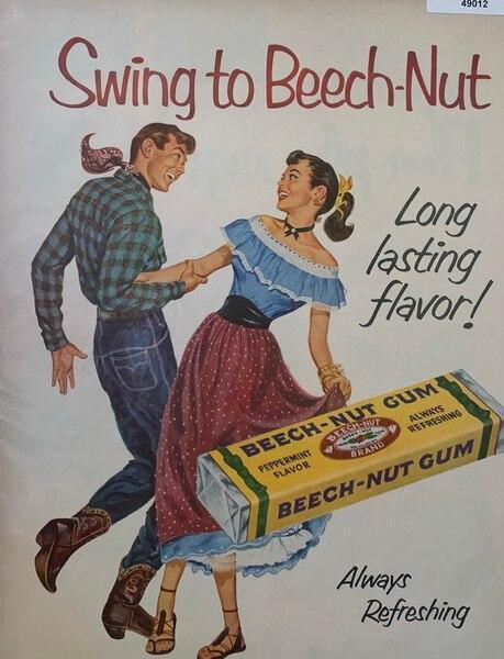 Swing to Beech nut gum ad