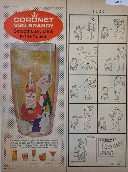 Coronet Brandy ad Nov 28,