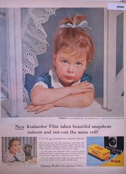 Kodacolor film ad, shows