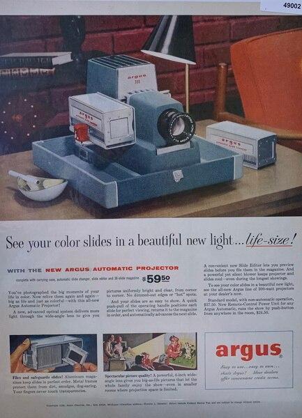 Argus slide projector 195