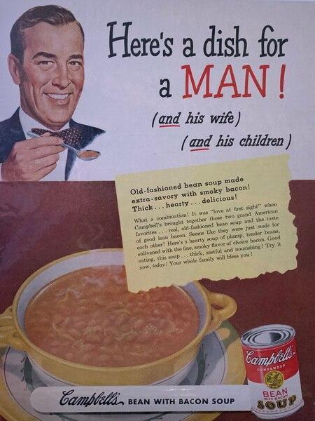 Man dish bean soup by Cam