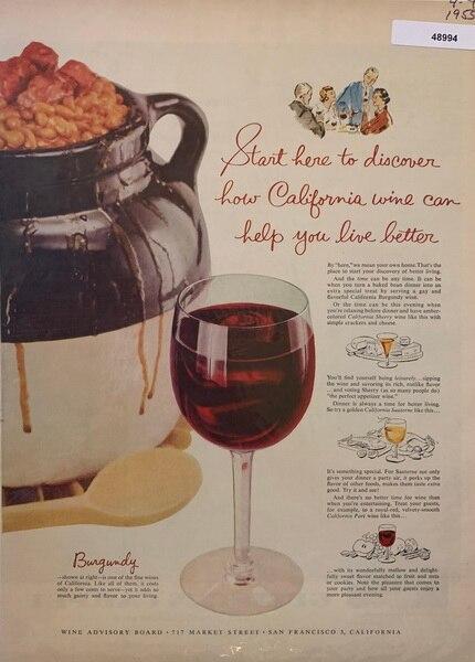 California wine burgundy