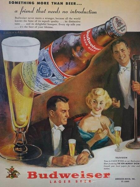 Budweiser lager beer ad,