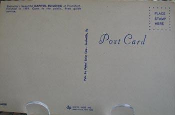 Kentucky Capitol In Shade Postcard