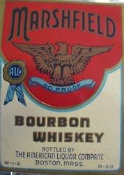 Marshfield Bourbon Whiskey Bottle Label