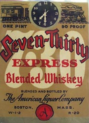 Seven Thirty One Pint Whiskey Bottle Label