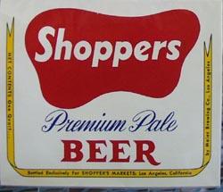 Shoppers Premium Pale Beer Bottle Label