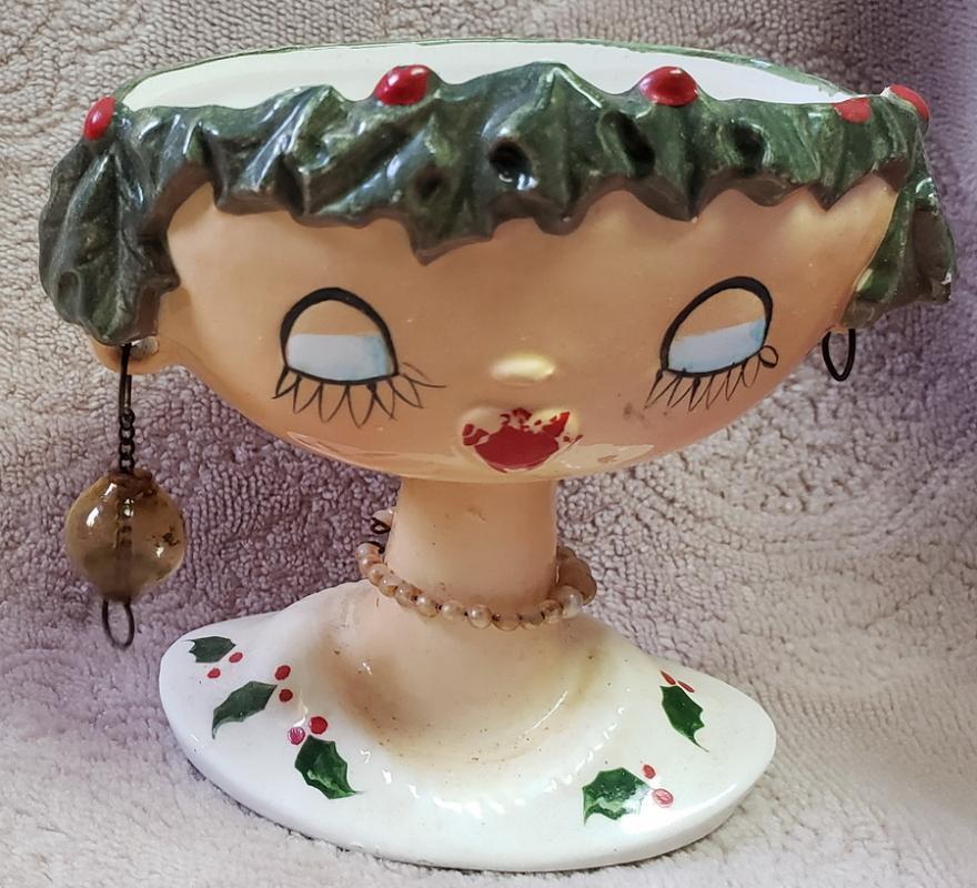 Christmas head vase by Holt howard 1954