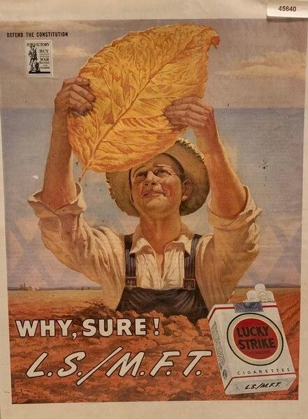 Lucky Strike Cigarettes 1945