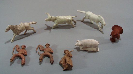 Auburn Rubber Texas Longhorn and more (8 total)