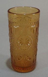Brockway Concord Ware Amber juice tumbler