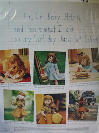 Betsy McCall 1st Day School Ad 1961